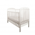 Little Babes Abbi Dropside Cot-White