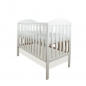 Little Babes Nicki Cot-White + Free Foam Mattress!