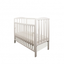 Little Babes Tobie Space Saver DROPSIDE Cot-White