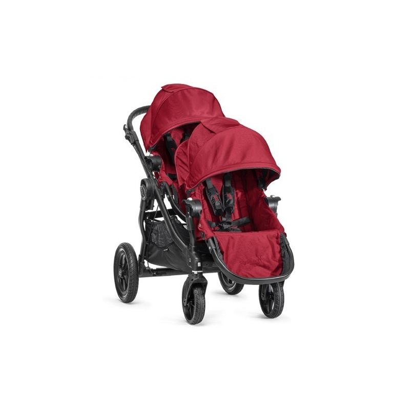 Baby Jogger City Select Tandem Stroller Red Includes Additional Seat Unit With Adaptors