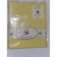 Angel Kids Pram Sheet Terry Fitted-Lemon