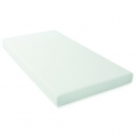 East Coast Cotbed Foam Mattress-Wipe Clean Cover (140 x 70cm)