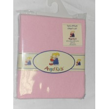 Angel Kids Cot Sheet Terry Fitted-Pink