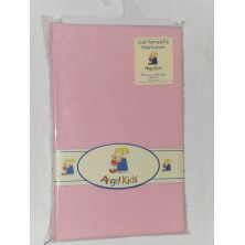 Angel Kids Pram Sheets (Flannelette)-Pink (2 Pack)