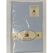 Angel Kids Pram Sheets (Flannelette)-Blue (2 Pack)