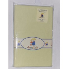 Angel Kids Pram Sheets (Flannelette)-Lemon (2 Pack)
