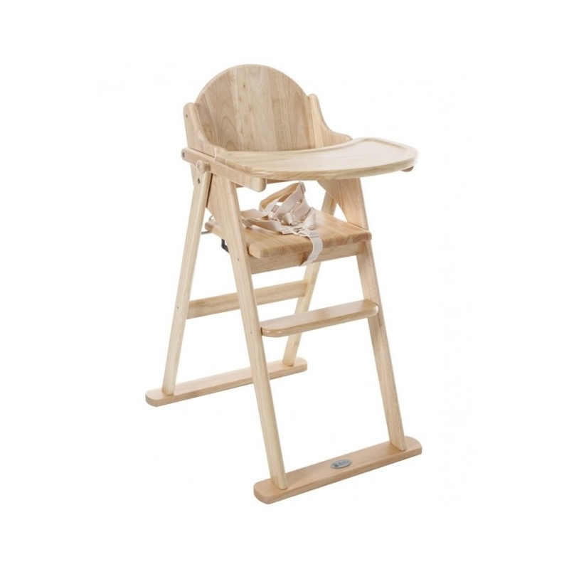 East Coast All Wood Folding Highchair-Natural
