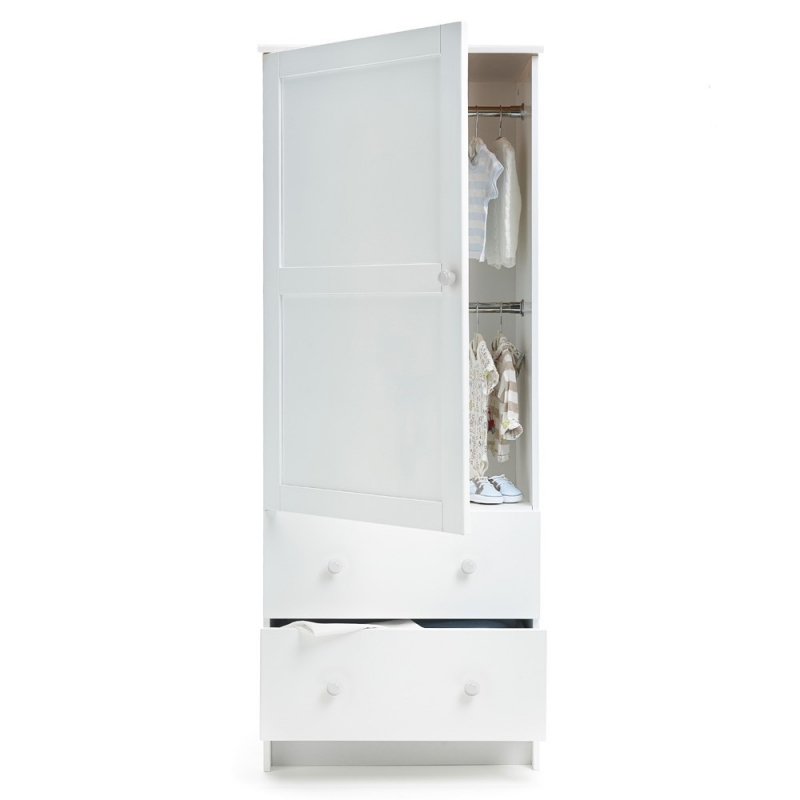 OBaby Single Wardrobe-White (New 2014)