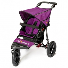 Out n About Nipper Single Stroller 360 V4 -Purple Punch