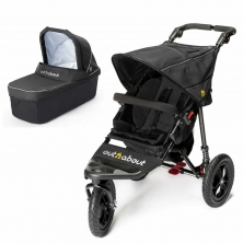 Out n About Nipper Single 360 V4 2in1 Pram System-Raven Black