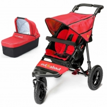 Out n About Nipper Single 360 V4 2in1 Pram System-Carnival Red