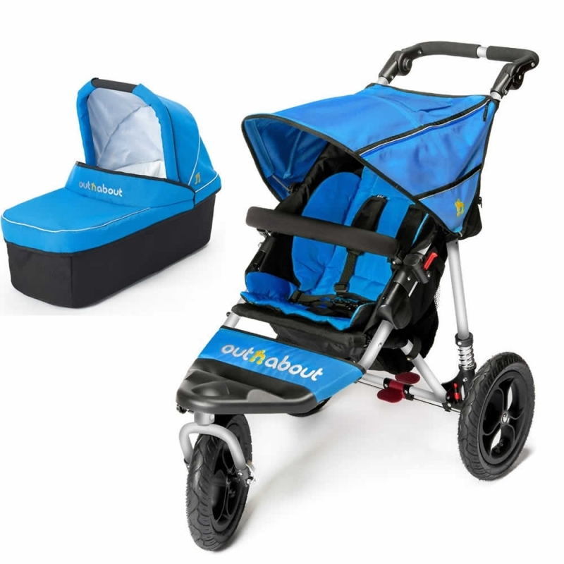 Out n About Nipper Single 360 V4 2in1 Pram System-Lagoon Blue