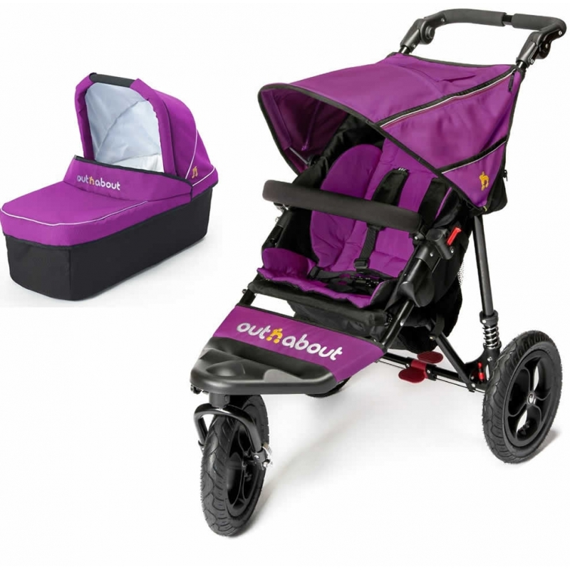 Out n About Nipper Single 360 V4 2in1 Pram System-Purple Punch