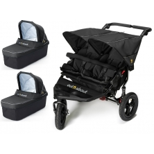 Out n About Nipper Double 360 V4 Pram System-Raven Black (2 Carrycot)
