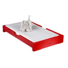 IzziWotNot Skyline Cot Top Changer-Red
