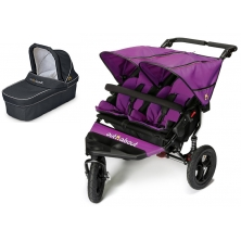 Out n About Nipper Double 360 V4 Pram System-Purple Punch (1 Double Carrycot)