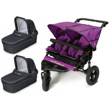 Out n About Nipper Double 360 V4 Pram System-Purple Punch (2 Carrycot)