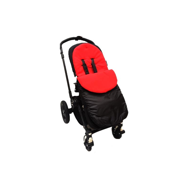 Kiddies Kingdom Showerproof Pushchair Footmuff-Red