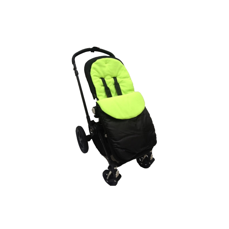 Kiddies Kingdom Showerproof Pushchair Footmuff-Lime Green