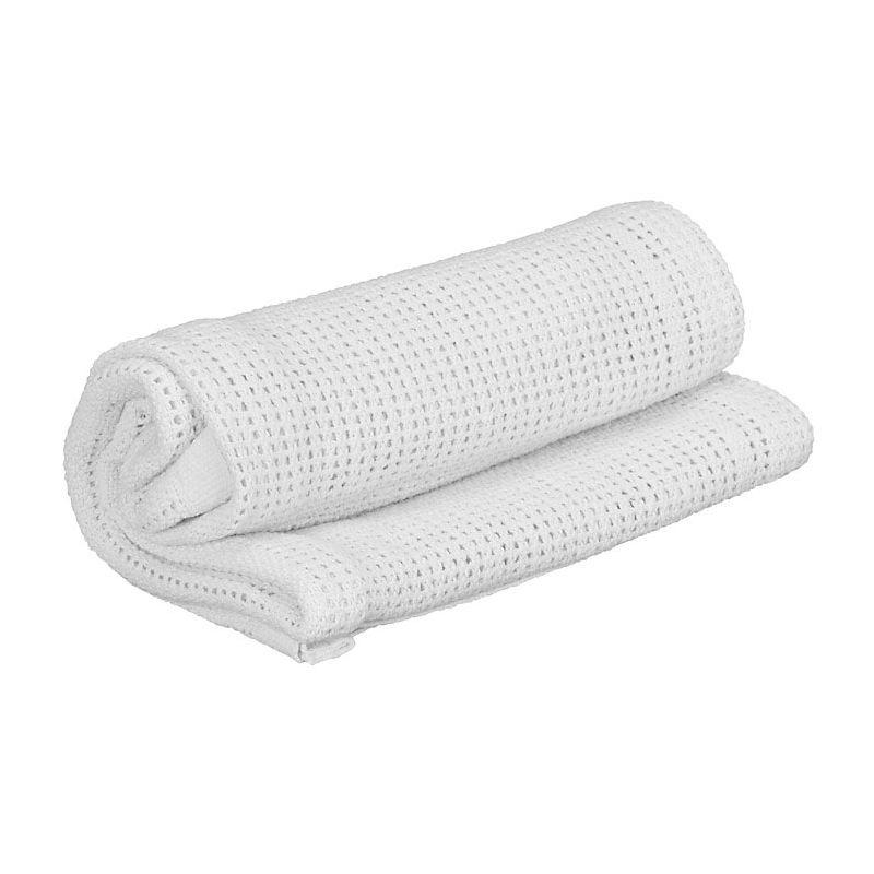 Kiddies Kingdom Deluxe Pram Cellular Blanket-White