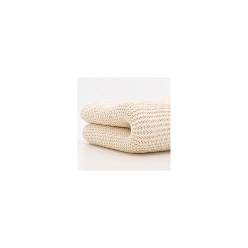 Kiddies Kingdom Deluxe Cot/Cotbed Cellular Blanket-Cream