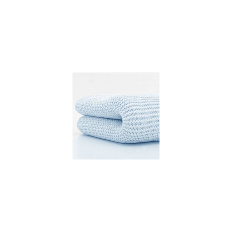 Kiddies Kingdom Deluxe Cot/Cotbed Cellular Blanket-Blue