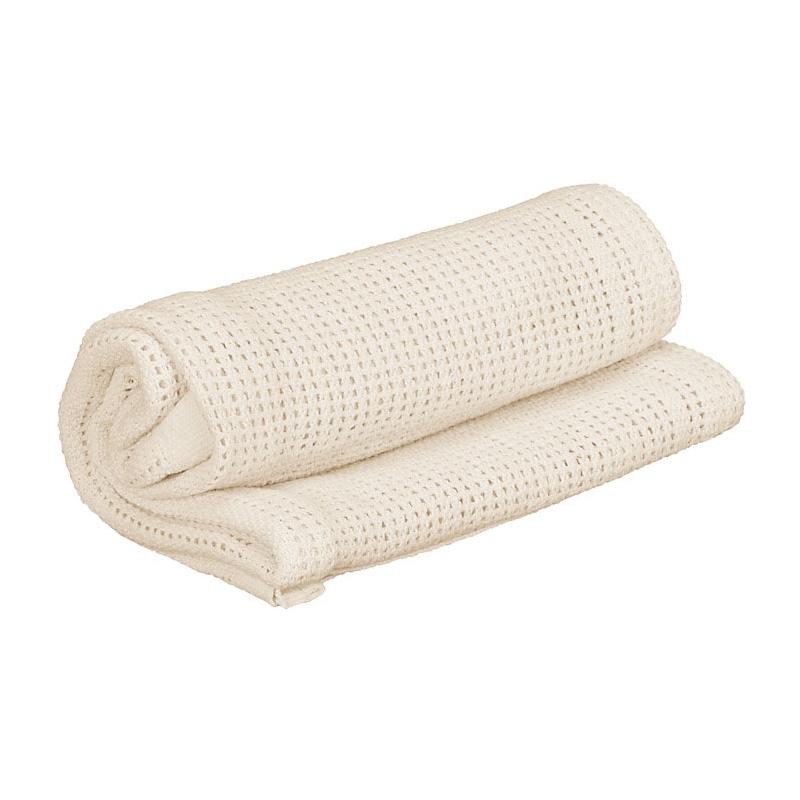 Kiddies Kingdom Deluxe Pram Cellular Blanket-Cream