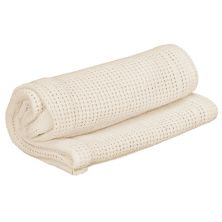 Kiddies Kingdom Deluxe Pram Cellular Blanket-Cream