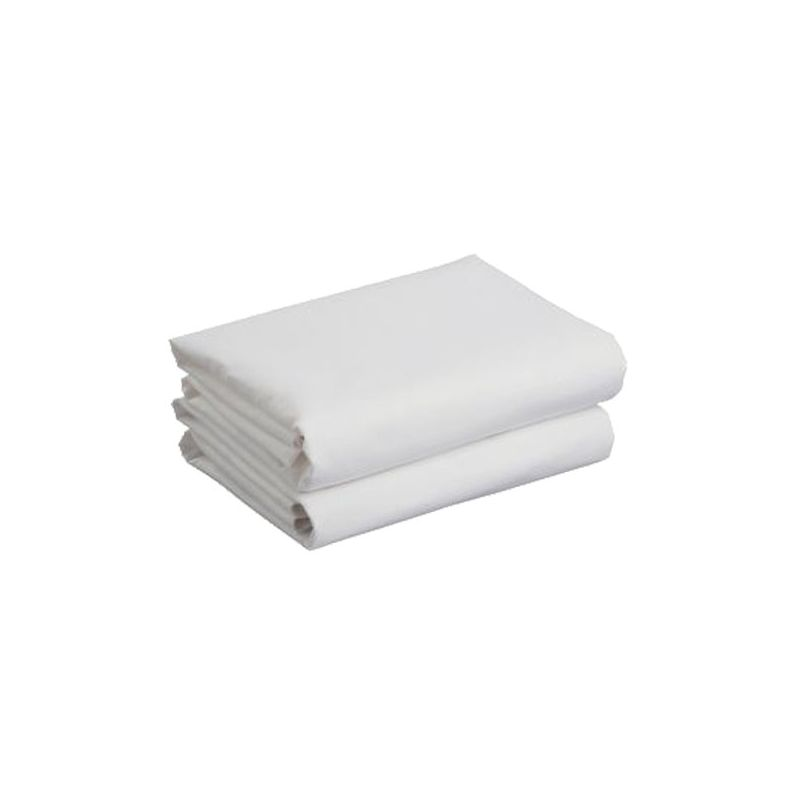 Kiddies Kingdom Deluxe 2 Pack Cotbed Jersey Fitted Sheet White (142 X 70)