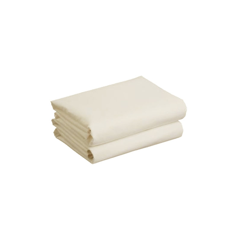 Kiddies Kingdom Deluxe 2 Pack Cotbed Jersey Fitted Sheet-Cream (142 x 70)