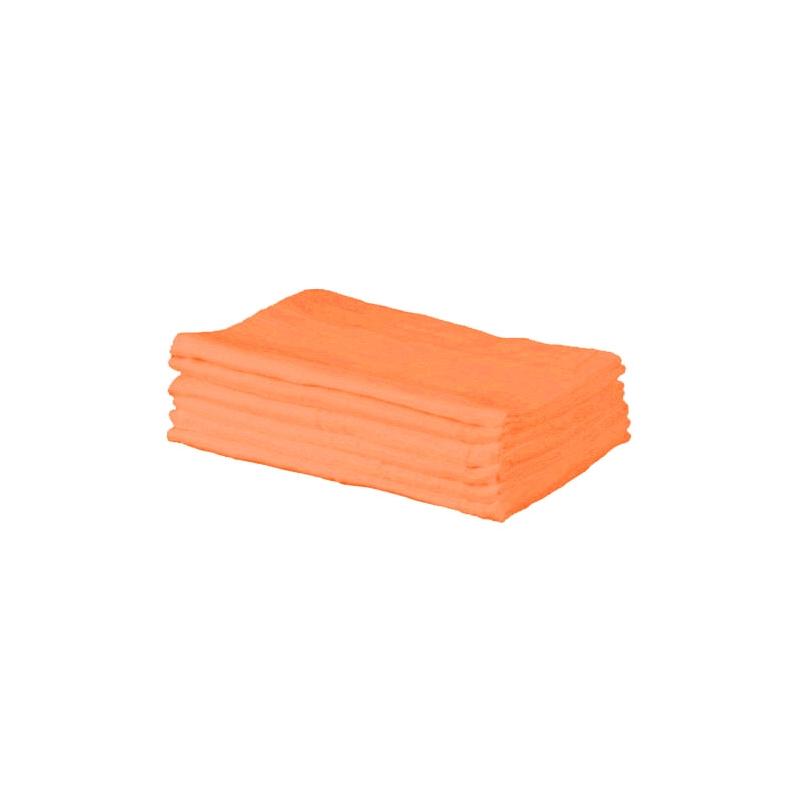 Kiddies Kingdom Deluxe 6 Pack Muslin Squares-Orange