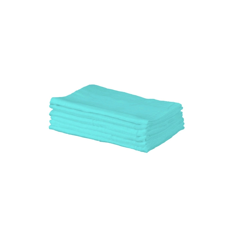 Kiddies Kingdom Deluxe 6 Pack Muslin Squares-Turquoise