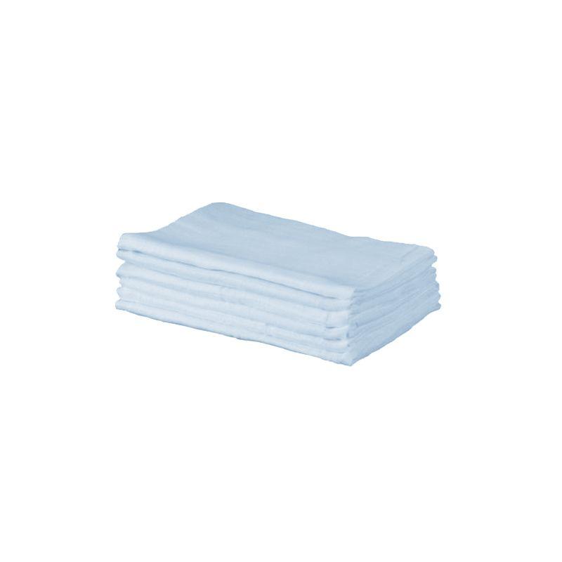 Kiddies Kingdom Deluxe 6 Pack Muslin Squares-Light Blue