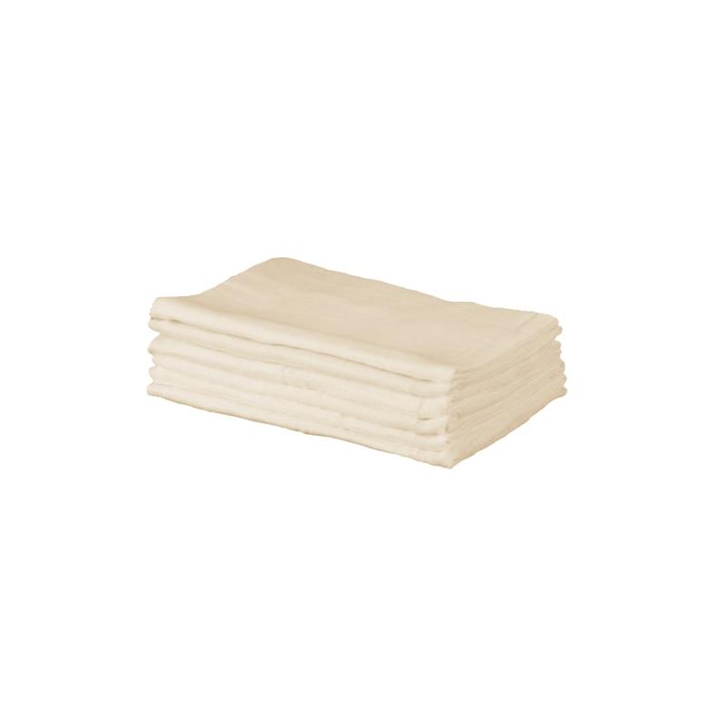 Kiddies Kingdom Deluxe 6 Pack Muslin Squares-Cream