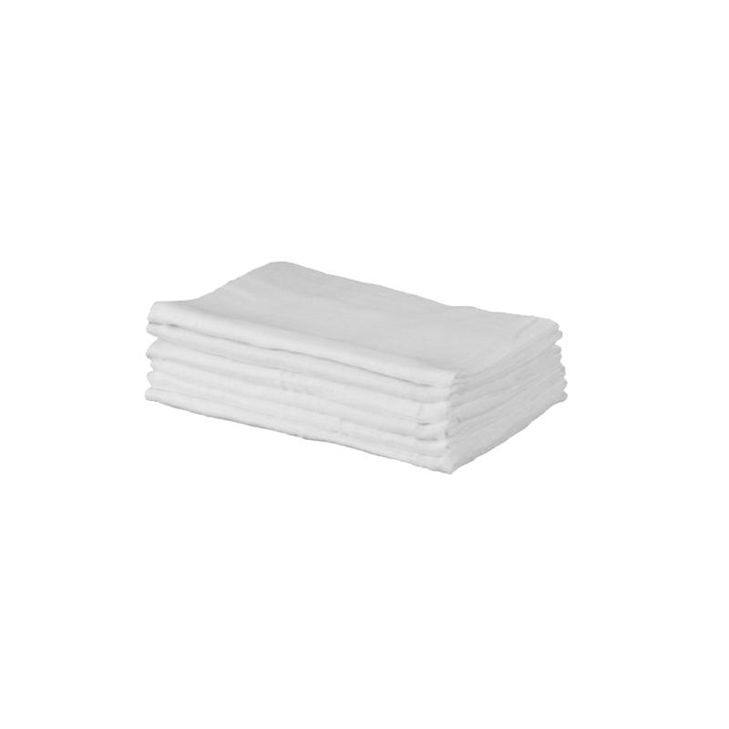 Kiddies Kingdom Deluxe 6 Pack Muslin Squares-White