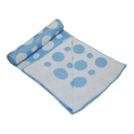 Kiddies Kingdom Deluxe Sky Blue Spot Wrap (75 x 100)