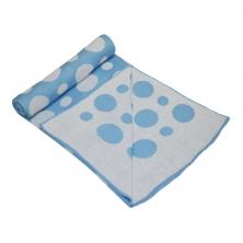 Kiddies Kingdom Deluxe Sky Blue Spot Wrap (75 x 100)