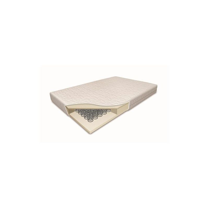 Image of 5 Inch Cotbed Sprung Mattress-(140cm x 70cm)