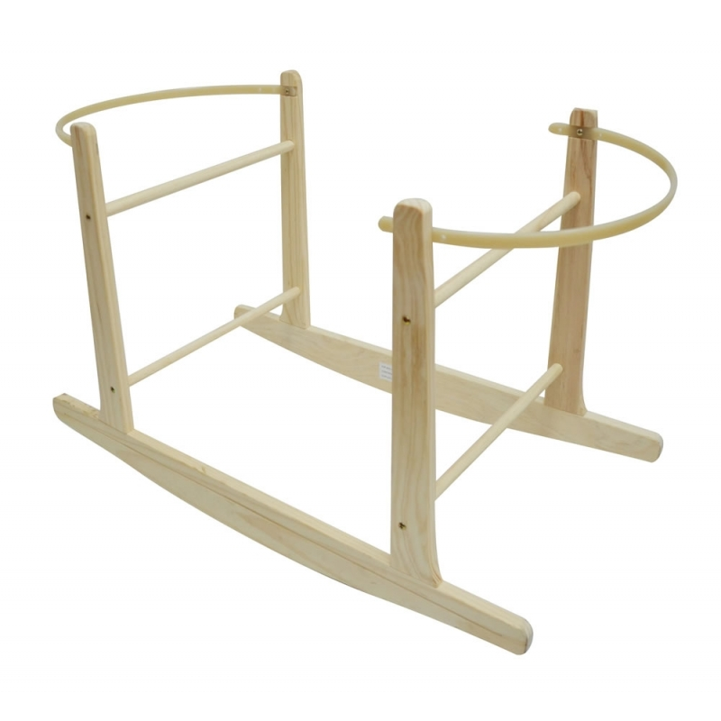 Kiddies Kingdom Deluxe Moses Basket Rocking Stand-Natural