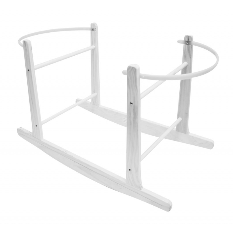 Kiddies Kingdom Deluxe Moses Basket Rocking Stand-White