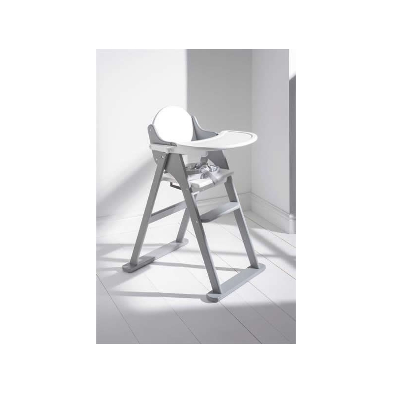 East Cost Folding Highchair-White/Grey