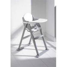 East Coast Folding Highchair-White/Grey