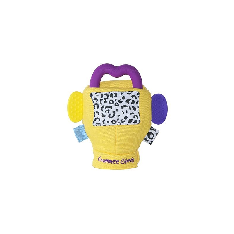 Gummee Glove Inc Silicone Heart Teething Ring-Yellow
