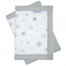 Airwrap 2 Sided Cot Protector-Silver Stars**