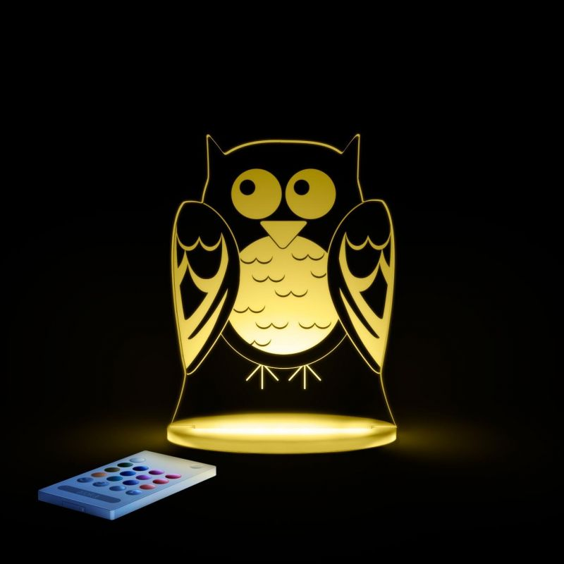 Image of Aloka Multi Coloured Children's Night Light-Owl