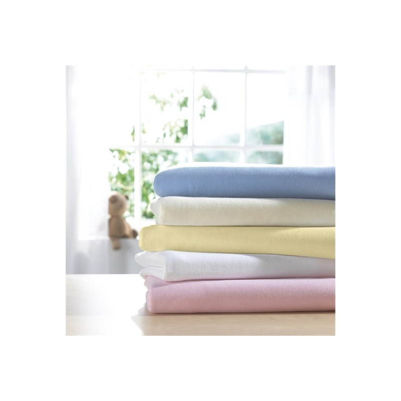 IzziWotNot 2 Pack Jersey Interlock Cot Fitted Sheets-White