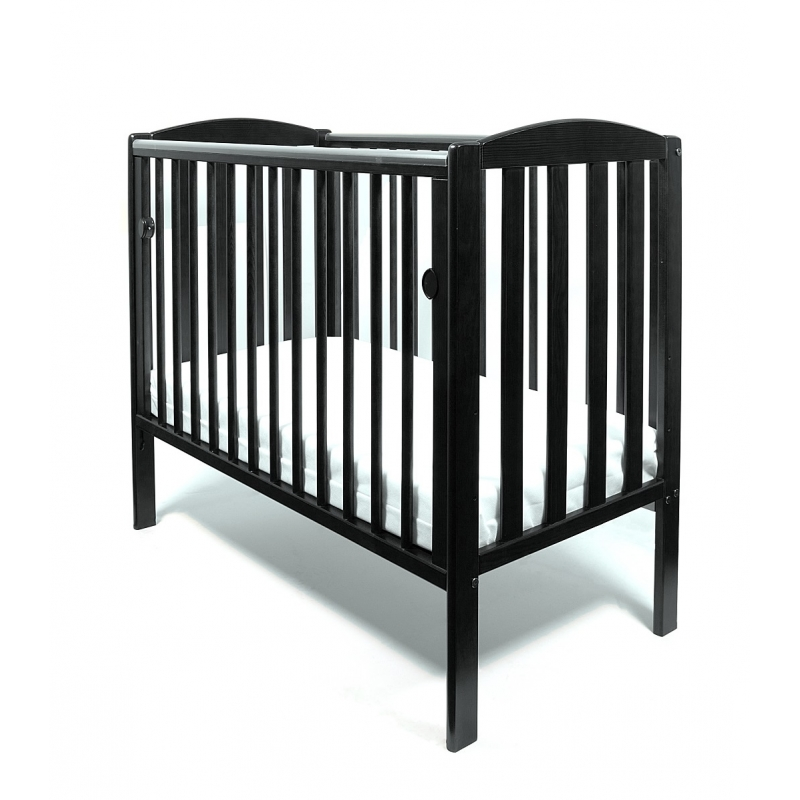 Little Babes Tobie Space Saver Cot-Black + FREE MATTRESS!
