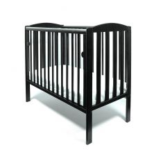 Little Babes Tobie Space Saver DROPSIDE Cot-Black + FREE Foam Mattress Worth £29.99!