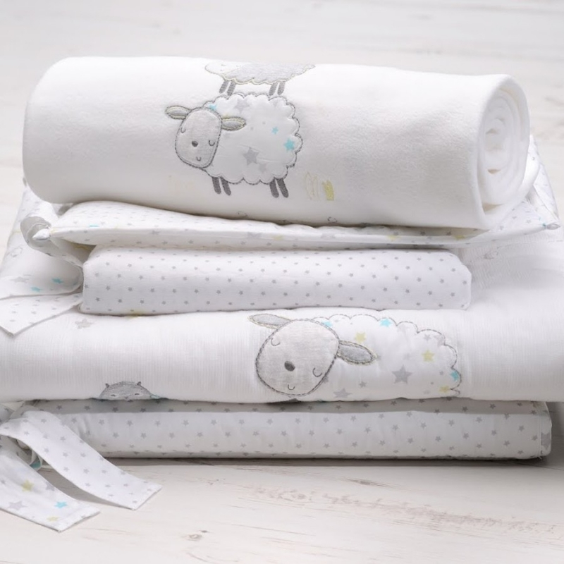 East Coasr Silver Cloud 3pc Bedding Bale-Counting Sheep