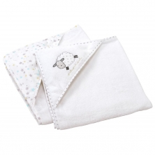 East Coast Silver Cloud 2pk Cuddle Robes-Counting Sheep